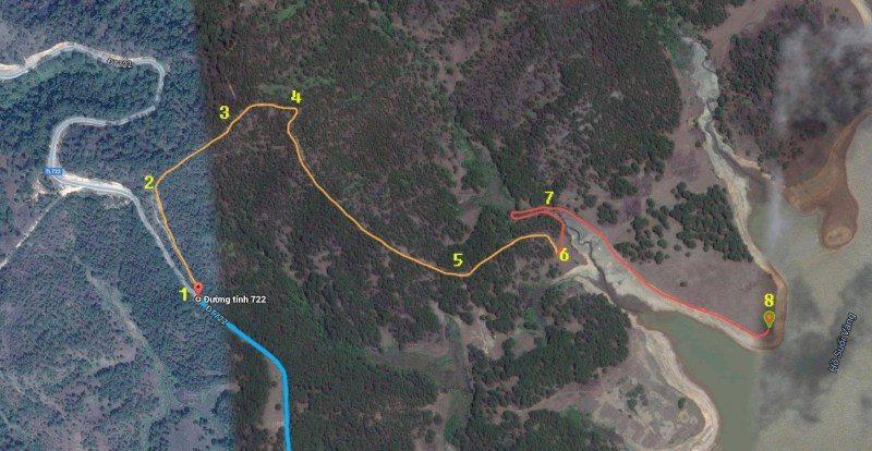 bản đồ google maps đến cây thông cô đơn