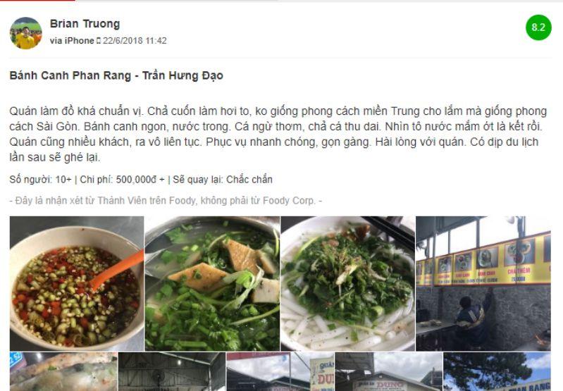 Quán bánh canh Phan Rang Đà Lạt