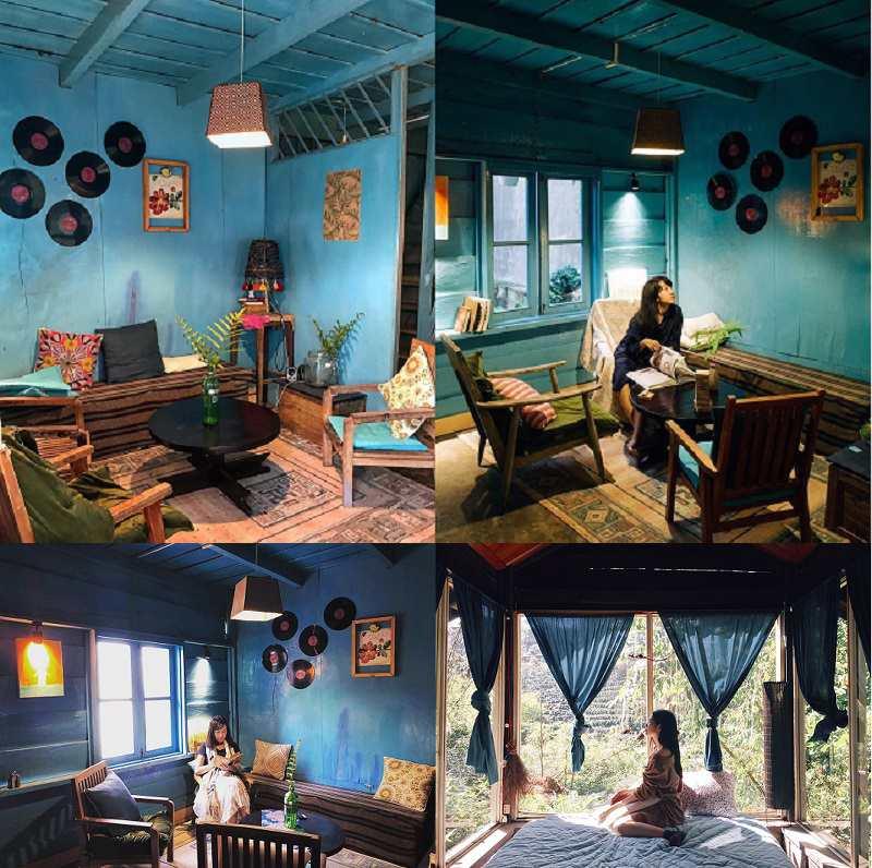 không gian bên trong Le Bleu homestay Đà Lạt