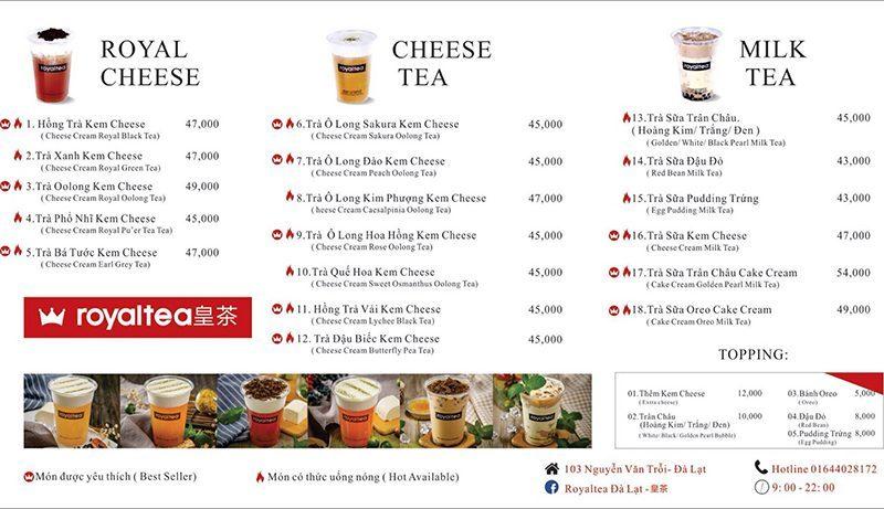 Trà sữa royal tea Đà Lạt