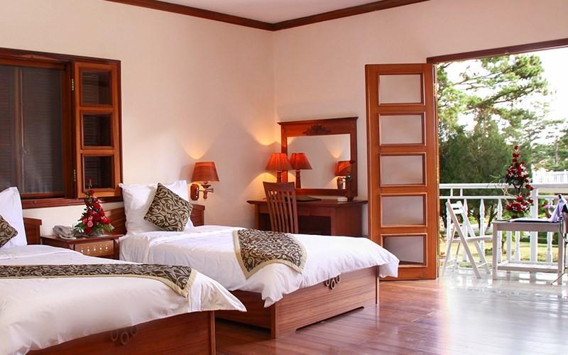 phòng  Garden Deluxe Monet Villa Đà Lạt