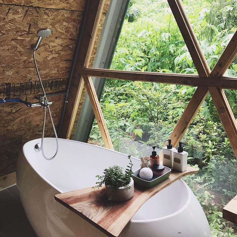 naunau garden Đà Lạt có bồn tắm
