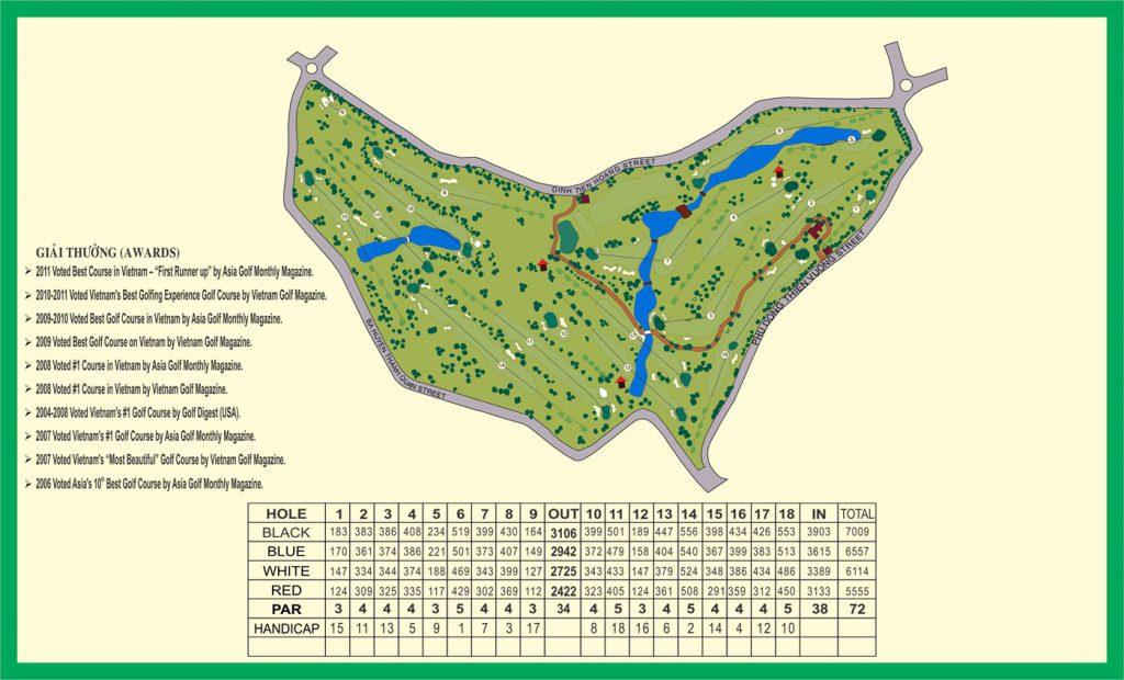 bản đồ sân golf