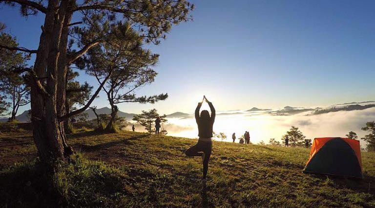buổi sáng ở đồi Đa phú