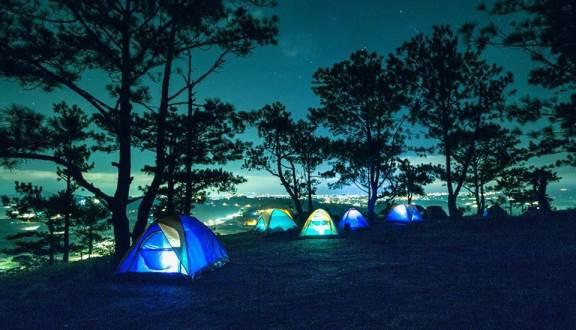 cắm trại trên đồi Đa Phú
