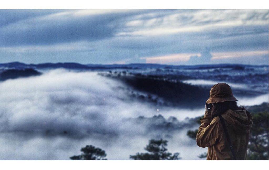 săn mây ở đồi Đa Phú